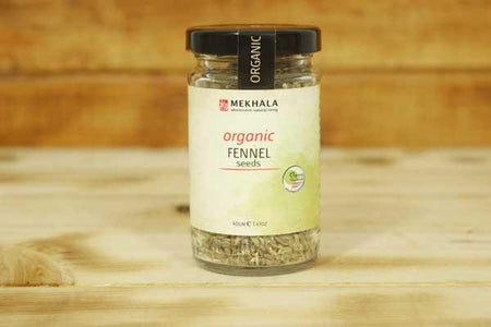 Mekhala Organic Fennel Seeds 40g Pantry > Baking & Cooking Ingredients