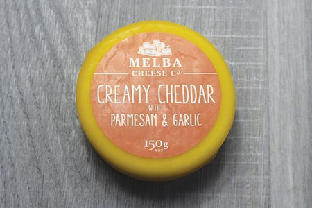 Melba Cheese Co Creamy Cheddar w/ Parmesan & Garlic 150g Dairy & Eggs > Cheese