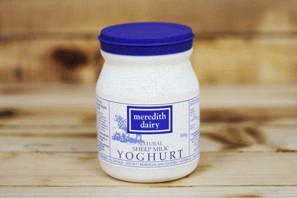 Meredith Dairy Natural Sheep Milk Yoghurt with Greek Cultures 500g* Dairy & Eggs > Yoghurt