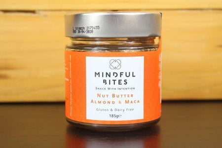Mindful Bites Almond & Maca Nut Butter Jar 185g Pantry > Nut Butters, Honey & Jam