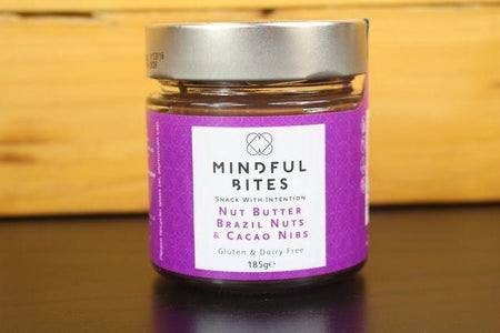 Mindful Bites Brazil Nut & Cacao Nib Nut Butter Jar 185g Pantry > Nut Butters, Honey & Jam