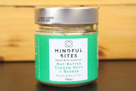 Mindful Bites Cashew Nut & Baobab Nut Butter Jar 185g Pantry > Nut Butters, Honey & Jam