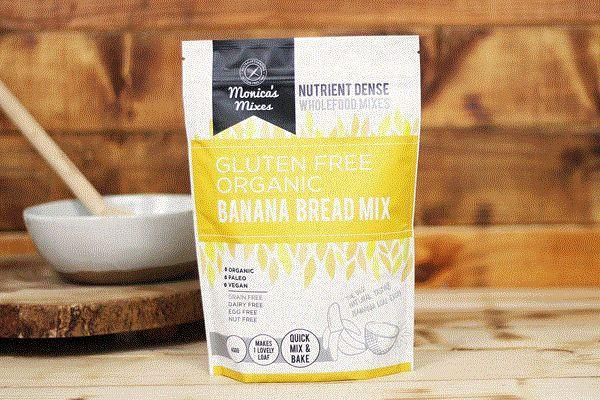 Monica's Mixes Organic Gluten Free Banana Bread Mix 400g Pantry > Baking & Cooking Ingredients