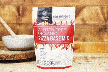 Monica's Mixes Organic Gluten Free Pizza Base Mix 350g Pantry > Baking & Cooking Ingredients