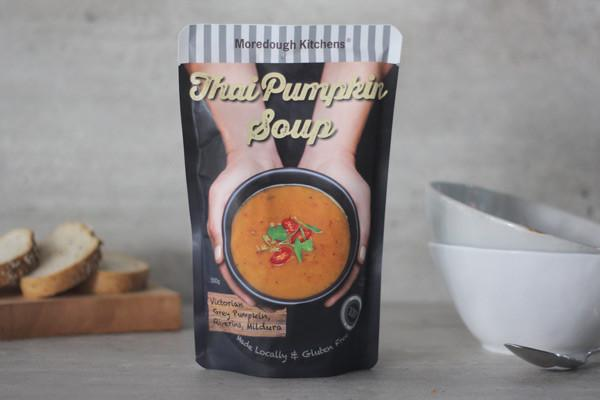 Moredough Kitchens Thai Pumpkin Soup 500g Pantry > Broths, Soups & Stocks