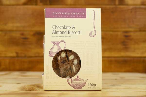 Mother Meg's Chocolate And Almond Biscotti 120g Pantry > Biscuits, Crackers & Crispbreads