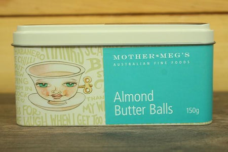 Mother Meg's MM Almond Butter Balls 150g Pantry > Cookies, Chips & Snacks