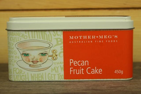 Mother Meg's MM Cake Pecan Fruit Tin 450g Bakery > Cakes & More