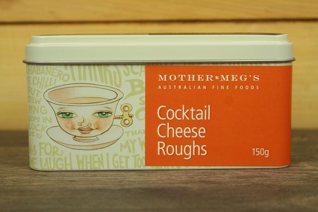 Mother Meg's MM Cocktail Cheese Rough Tin 150g Pantry > Cookies, Chips & Snacks