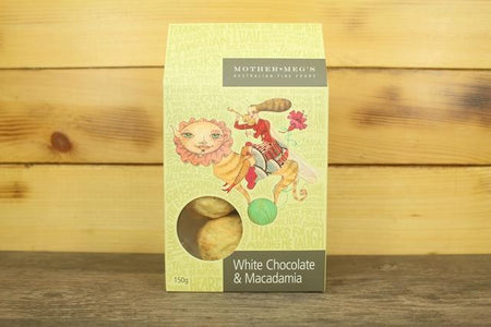 Mother Meg's MM Festive White Choc Macadamia 150g Pantry > Cookies, Chips & Snacks