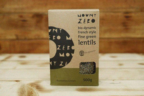 Mount Zero Olives Biodynamic French Green Lentils 500g Pantry > Grains, Rice & Beans