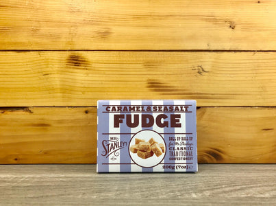 Mr Stanley's Caramel & Sea Salt Fudge 200g Pantry > Confectionery
