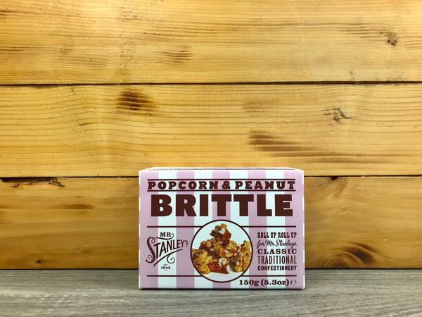 Mr Stanley's Popcorn & Peanut Brittle 150g Pantry > Confectionery