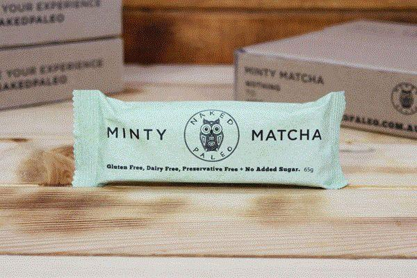 Naked Paleo Minty Matcha Paleo Bar 65g Pantry > Granola, Cereal, Oats & Bars