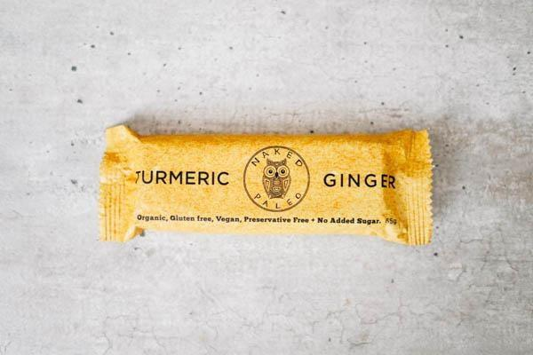 Naked Paleo Turmeric Ginger Paleo Bar 65g Pantry > Granola, Cereal, Oats & Bars