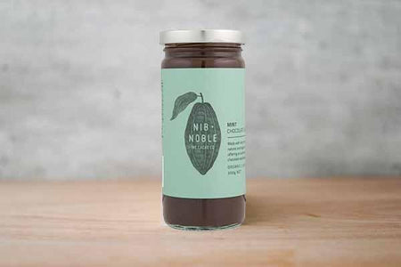 Nib & Noble Organic Mint Chocolate Sauce 250g Pantry > Condiments