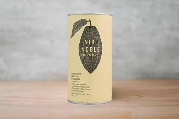 Nib & Noble Organic Sugar Free Drinking Chocolate 250g Pantry > Drink Mixers & More
