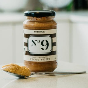 No 9 No 9 Dark Chocolate Peanut Butter 375g Pantry > Nut Butters, Honey & Jam