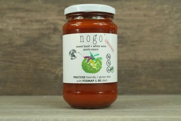 Nogo NoGo Pasta Sauce with Sweet Basil White Wine 380g Pantry > Pasta, Sauces & Noodles