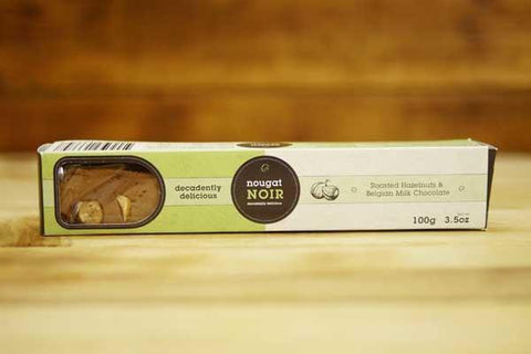 Nougat Noir Roasted Hazelnuts & Belgian Milk Chocolate 100g Pantry > Confectionery