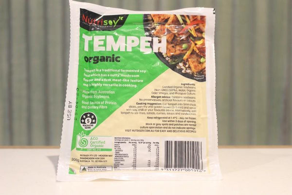 Nutrisoy Organic Plain Tempeh 300g Dairy & Eggs > Dairy Alternatives