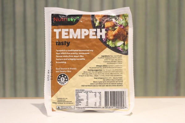 Nutrisoy Tasty Tempeh 300g Dairy & Eggs > Dairy Alternatives