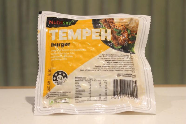 Nutrisoy Tempeh Burger 200g Dairy & Eggs > Dairy Alternatives