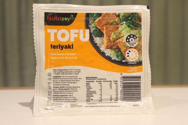 Nutrisoy Teriyaki Tofu 200g Dairy & Eggs > Dairy Alternatives