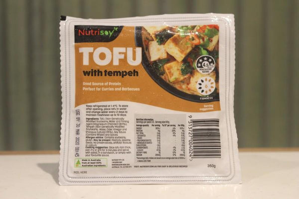 Nutrisoy Tofu with Tempeh 350g Dairy & Eggs > Dairy Alternatives