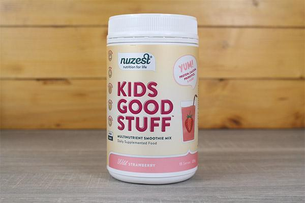 Nuzest Kids Good Stuff Multinutrient Smoothie Mix Strawberry 225g Pantry > Protein Powders & Supplements