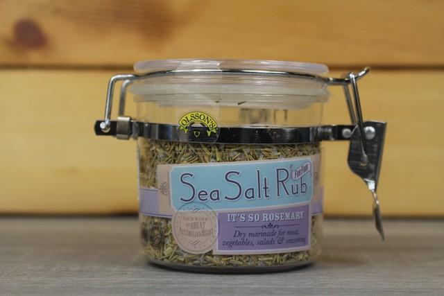 Olssons Olsson Rosemary Sea Salt Rub 100g Kilner Jar Pantry > Baking & Cooking Ingredients