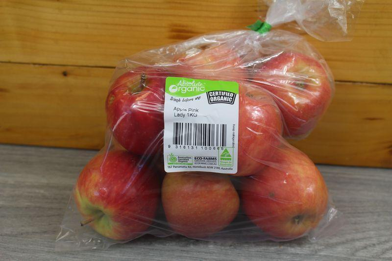 Organic Direct Produce Organic Apple Pink Lady 1kg P/P Produce > Fruit