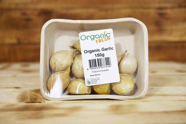 Organic Fresh Organic Garlic 150g Produce > Vegetables