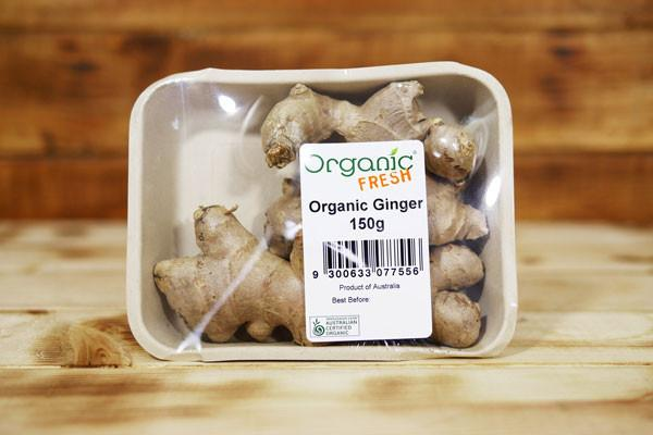 Organic Fresh Organic Ginger 150g Produce > Vegetables