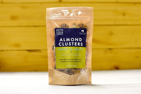 Paleo Pure Almond Clusters Sweet & Salty 100g Pantry > Dried Fruit & Nuts