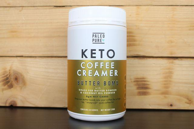 Paleo Pure Keto Coffee Creamer Butter Bomb 250g Pantry > Protein Powders & Supplements