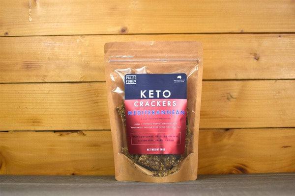 Paleo Pure Mediterranean Keto Crackers 140g Pantry > Biscuits, Crackers & Crispbreads