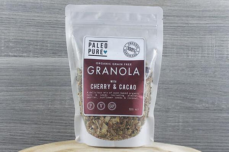Paleo Pure Ppu Granola Cherry & Cacao 300g Pantry > Granola, Cereal, Oats & Bars