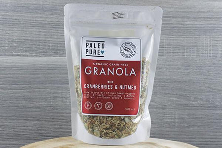 Paleo Pure Ppu Granola Cranberry & Nutmeg 300g Pantry > Granola, Cereal, Oats & Bars
