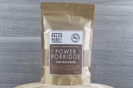 Paleo Pure Ppu Power Porridge Choc Maca Nana 300g Pantry > Granola, Cereal, Oats & Bars