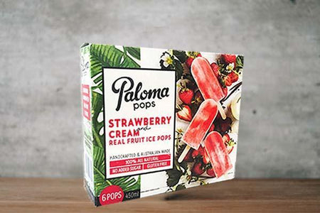 Paloma Pops Strawberry & Cream 5 x 6 Pack 75ml Freezer > Ice Cream