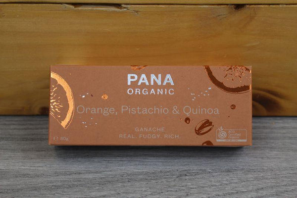 Pana Org Ganache Orange Pistachio & Quinoa 80g Pantry > Confectionery