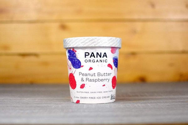 Pana Organic Peanut Butter Raspberry Ice Cream 475ml Freezer > Ice Cream