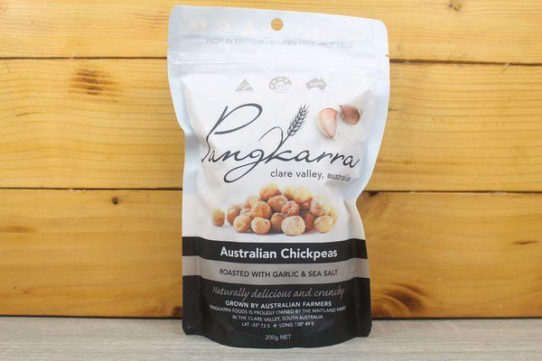 Pangkarra Roasted Chickpeas Garlic & Sea Salt 200g Pantry > Dried Fruit & Nuts