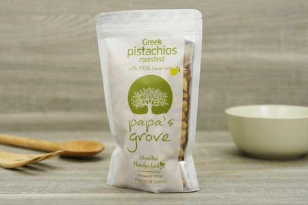 Papa's Grove Greek Roasted Pistachios 180g Pantry > Dried Fruit & Nuts
