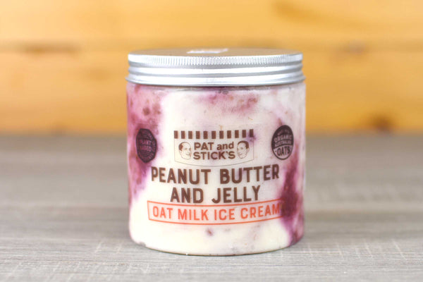 Pat and Stick's Peanut Butter Jelly Oat Milk Ice Cream 520ml Freezer > Ice Cream