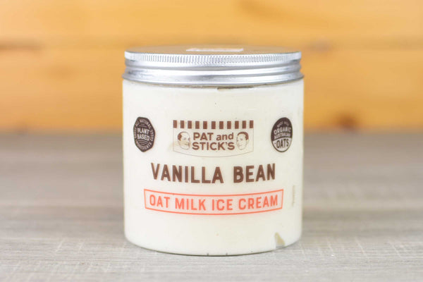 Pat and Stick's Vanilla Bean Oat Milk Ice Cream 520ml Freezer > Ice Cream