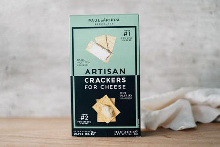 Paul & Pippa Chapters 1 & 2 Artisan Crackers 300g Pantry > Biscuits, Crackers & Crispbreads