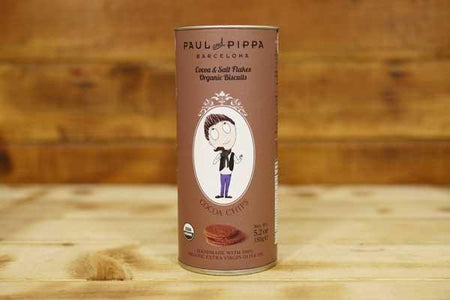Paul & Pippa Organic Cocoa & Salt Flakes Biscuit 150g Pantry > Biscuits, Crackers & Crispbreads