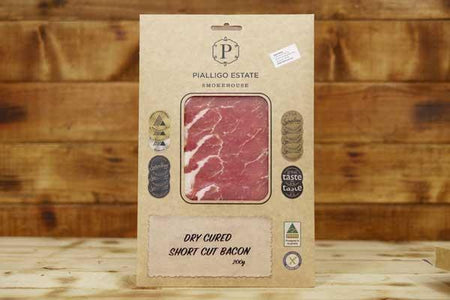 Pialligo Estate Short Cut Dry Cured Bacon 200g Deli > Charcuterie